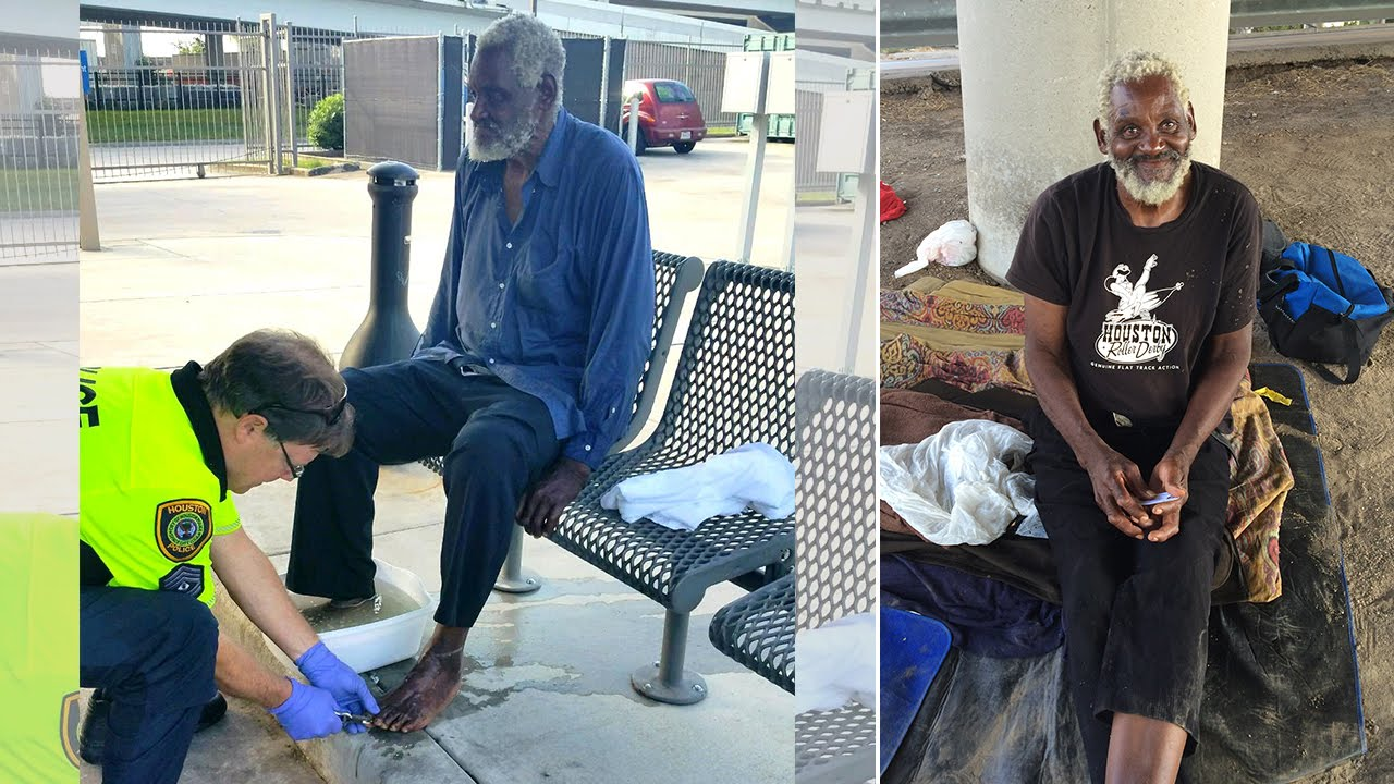 Why These Selfless Police Officers Washed a Blind Homeless Man's Feet