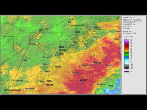 Doppler Radar - Spavinaw - Grove Oklahoma Tornado - April 18, 2013