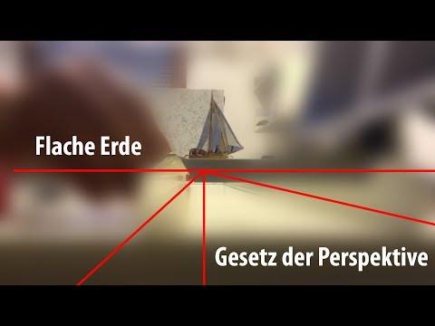 Flache Erde - Gesetz der Perspektive