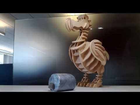 Iron-Laced Silly Putty Eats A Magnet
