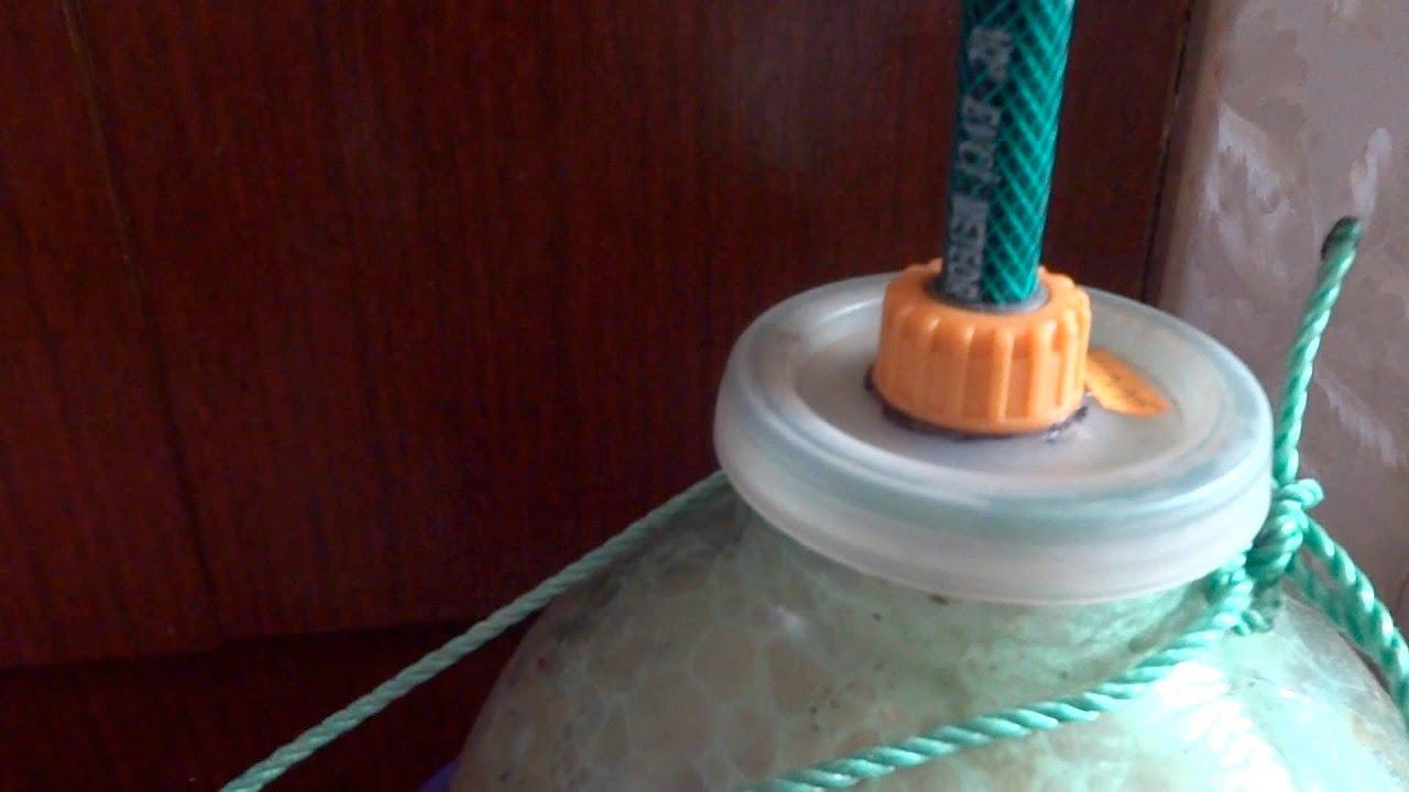 Как сделать гидрозатвор для браги своими руками 884
