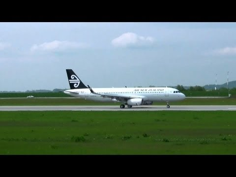 First Air New Zealand A320 with Sharklets MSN5629 low approach and landing at Hamburg Finkenwerder