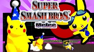 PICHU VS PIKACHU - BEST OF 5 MATCHES - let's play SUPER SMASH BROS MELEE
