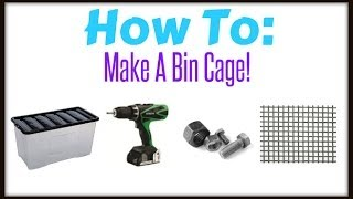 Play tutorial how to make a bin cage for a syrian for Hamster bin cage tutorial