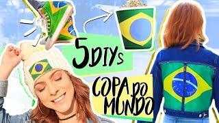 DIY :: 5 Dicas p/ Torcer na Copa do Mundo!!! - Brasil inspired