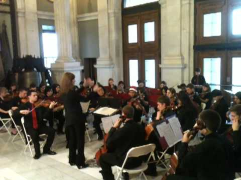 Cranston High School West Orchestra RI State House Concert 12-21-2012 Christmas Concerto