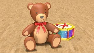 Educational cartoons for children babies 1 year. Learn baby toys in English