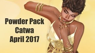 Powder Pack Catwa April 2017 - Unboxing Video - Second Life Subscription Box