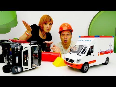 Видео для детей #КапукиКануки 🚑 Грузовики - Машинки Авария на дороге 🌳 #ЧеловекПаук в #КафеНаДереве