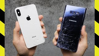 iPhone XS Max vs. Galaxy Note 9 Drop Test!