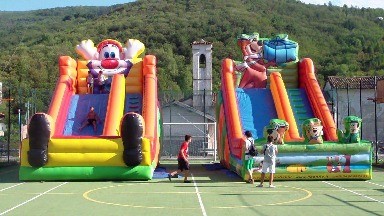 Noleggio Giochi Gonfiabili Per Bambini Milano - YouTube