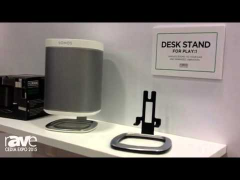CEDIA 2015: Flexson Introduces Flexson Adjustable Floor Stand, Desk Stand for SONOS PLAY:1