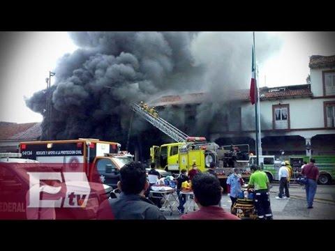 Impactante incendio en tienda comercial en Uruapan, Michoacán  / Paola Virrueta