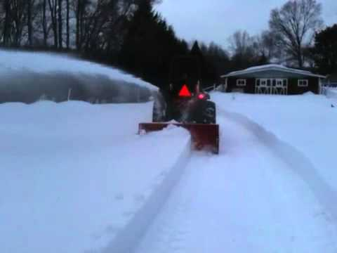 Kioti DK40 with 3 Point Snowblower