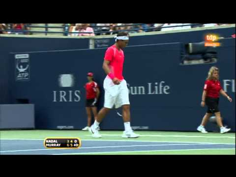 Rafa Nadal vs. Andy Murray  3-6, 4-6 en 1 hora 43 mn.