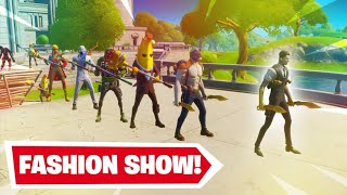 FIRST SEASON 2 FORTNITE *FASHION SHOW* | NEW SKINS EMOTES AND MORE!