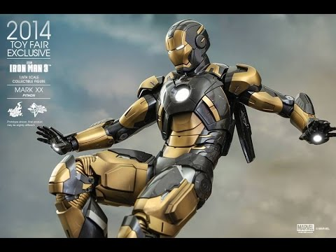 Hot toys toy fair ex ironman mark 20 PYTHON video review