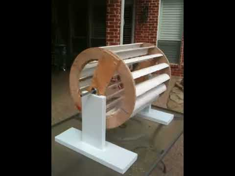 Verticle Axis Wind Generator Turbine - VAWT - Turned horizontal