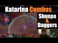 ►Katarina Guide: All Situational Combos with Daggers & Shunpo | League Of Legends