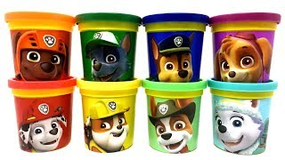Play-Doh Can Heads Paw Patrol Characters Toys Everest Tracker Chase Rubble Zuma Marshall Rocky Skye