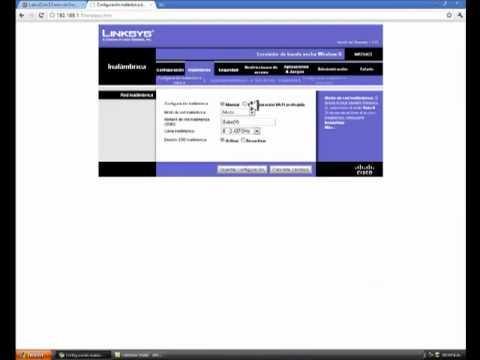 Ponerle Clave a un Router (Linksys)