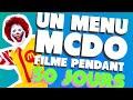 UN MENU MCDO FILMÉ PENDANT 50 JOURS (LES ETRANGES