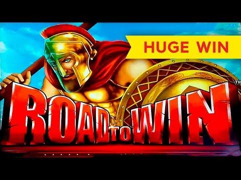 HUGE WIN! Road To Win Slot - AWESOME RETRIGGER BONUS!