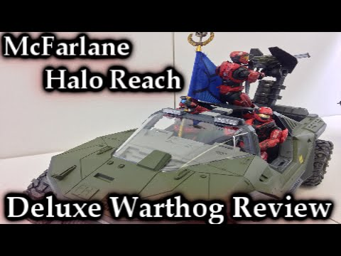 McFarlane Halo Reach | Deluxe Warthog Vehicle Review