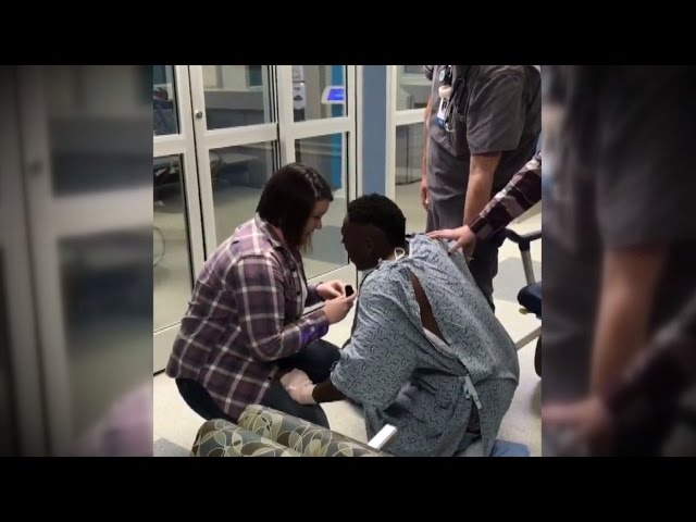 Watch Man Propose To Girlfriend In Hospital After Getting Into Car Crash
