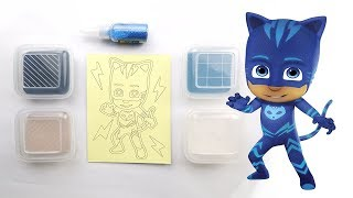 PJ MASKS Catboy Glitter Sand Art coloring for kids