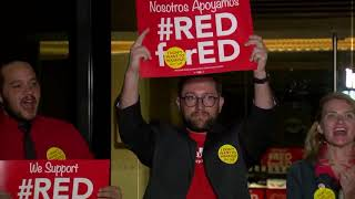 """VIDEO: Leaders chant """"Red for Ed"""" after announcing walkout plans"""