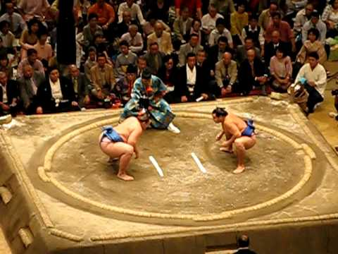 Telmus - Japan - Tokio - Sumo Final Tournament - Caída sobre público - fall