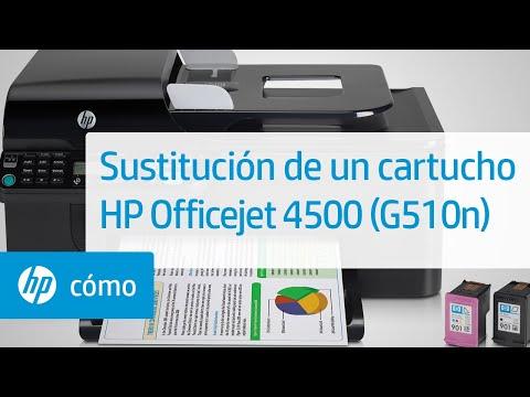 Sustitución de un cartucho - Impresora Todo-en-Uno inalámbrica HP Officejet 4500 (G510n)