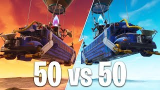 50 vs 50 GAME MODE in FORTNITE BATTLE ROYALE!!