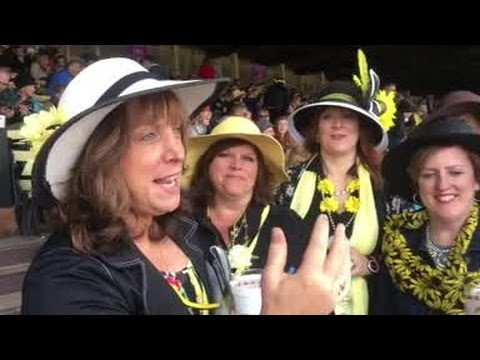 Friends travel from New Jersey every year for Preakness