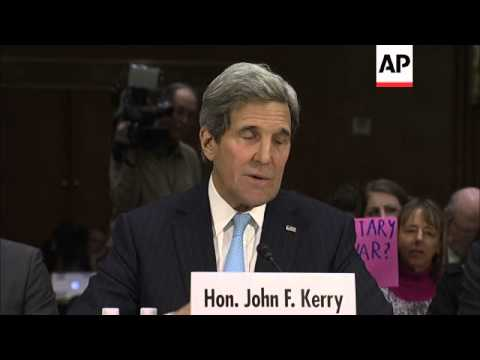 Secretary of State John Kerry says a new congressional authorization for U.S. military operations ag