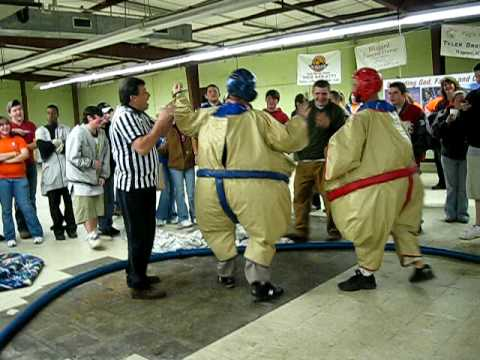 Wagener Salley High School Coaches Sumo Wrestle