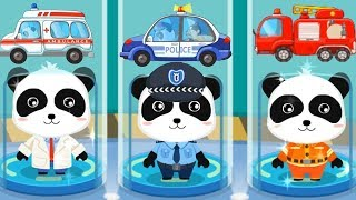 Baby Panda's Brave Jobs - Kids Play Fun Policeman, Fireman, Astronaut Jobs - Babybus Kids Video