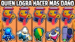 WHAT BRAWLER GETS MORE DAMAGE TO THE ASEDIO ASSEMBLY | WITH OR WITHOUT ULTIMATE | BRAWL STARS