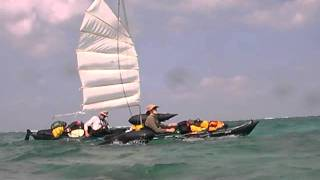 Feathercraft sailing kayak in Okinawa(Granstream presents)