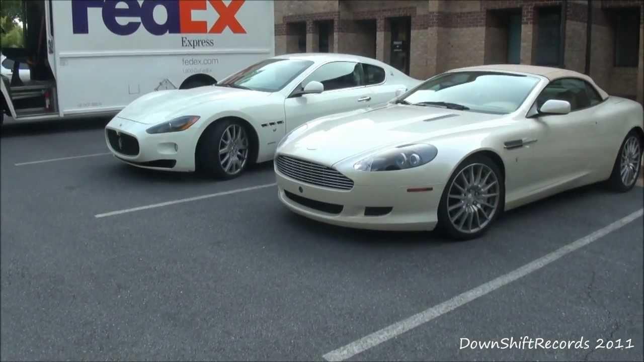 Aston Martin Db9 Volante Amp Maserati Granturismo Parked