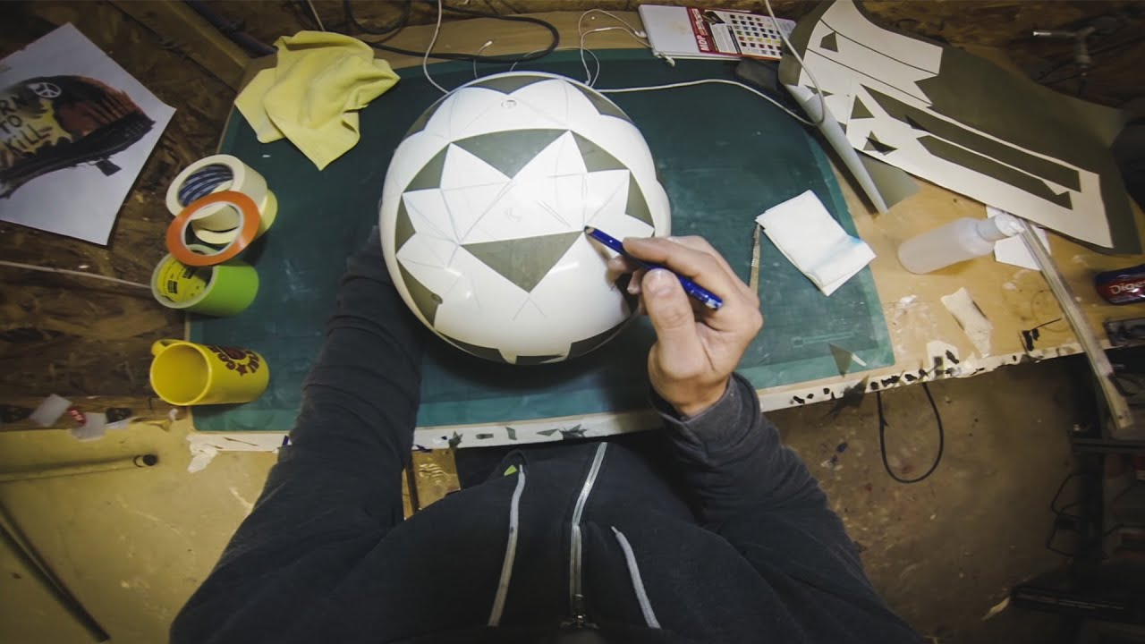 gopro death spray helmet paint football focus. Black Bedroom Furniture Sets. Home Design Ideas