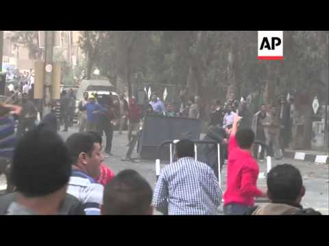 Clashes during protest outside Muslim Brotherhood headquarters
