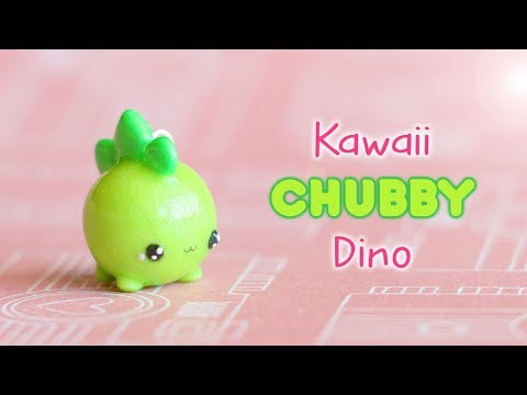 Kawaii Chubby Dinosaur│Polymer Clay Tutorial