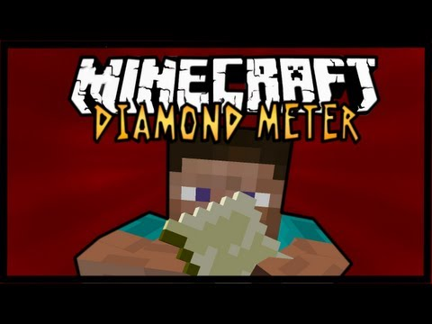 Minecraft Mod Spotlight - Diamond Meter 1.7.4 - FIND DIAMONDS EASILY !
