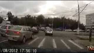 Russia Car Cam Recorded Accident
