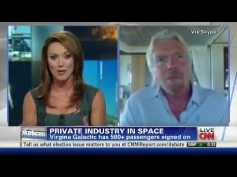 Richard Branson talks to CNN about SpaceX Launch