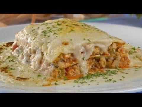 Receta de Lasagna con pollo y espinacas