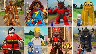 All Giant Characters + Transformation Animations in LEGO Videogames (w/All DLC)