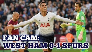FAN CAM: West Ham 0-1 Tottenham Hotspur - Lamela Header and Spurs Up to 3rd! - 20 October 2018